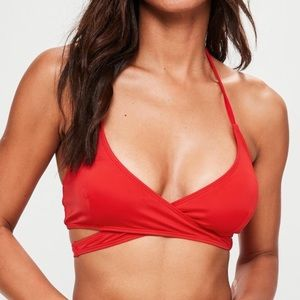 Misguided red swim top